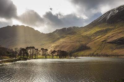 Shafts of Light Break Through Clouds to Illuminate the Fells in Winter, England-Eleanor Scriven-Photographic Print