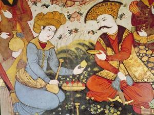 Shah Abbas I (1588-1629) and a Courtier