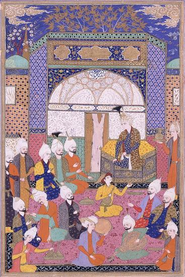 Shah Isma'Il Holding the First Private Audience after His Accession in Tabriz, C.1590-1600--Giclee Print