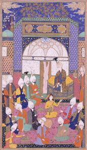 Shah Isma'Il Holding the First Private Audience after His Accession in Tabriz, C.1590-1600