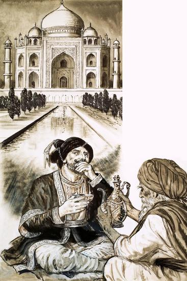 Shah Jehan and the Taj Mahal--Giclee Print