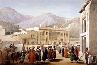Shah Shoja, Puppet of the British, Holding a Durbar at Kabul, First Anglo-Afghan War, 1838-1842-James Atkinson-Giclee Print