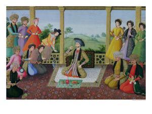 Shah Suleyman II and His Courtiers