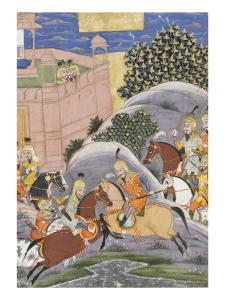 Shahnameh de Ferdowsi ou le Livre des Rois. Combat de Bijène contre Firoud