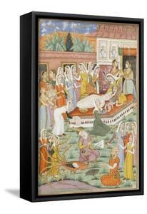 Shahnameh de Ferdowsi ou le Livre des Rois. Naissance de Roustam par Césarienne