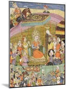 Shahnameh de Ferdowsi ou le Livre des Rois. Sohrab regarde la tente de Guivre