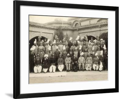 Shahpur District Police Officers Group, India, 1937-1938- Mool & Son Chand-Framed Photographic Print