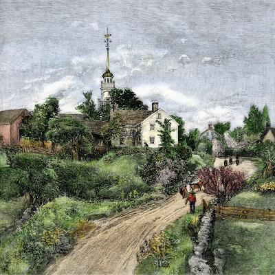 Shaker Meeting-House in Canterbury, New Hampshire, Late 1800s--Giclee Print