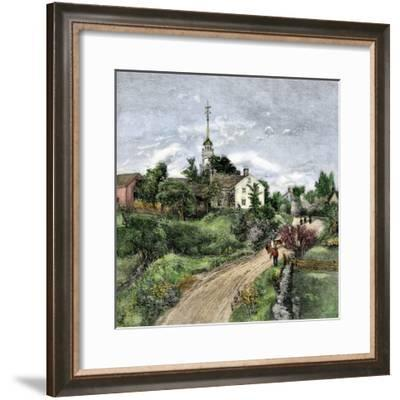 Shaker Meeting-House in Canterbury, New Hampshire, Late 1800s--Framed Giclee Print