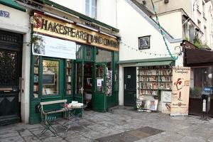 Shakespeare and Co Bookshop in Paris France