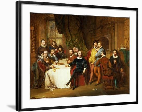 Shakespeare and His Friends at the Mermaid Tavern, 1850-John Faed-Framed Giclee Print