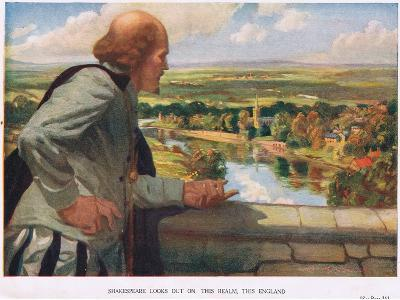 Shakespeare Looks Out on This Realm, This England--Giclee Print