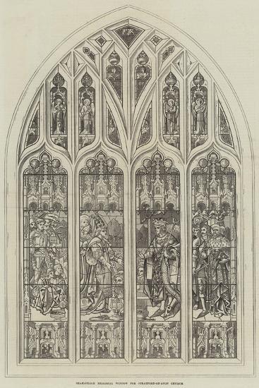 Shakespeare Memorial Window for Stratford-On-Avon Church--Giclee Print