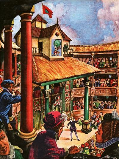 Shakespeare Performing at the Globe Theatre-Peter Jackson-Giclee Print