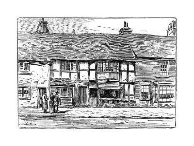 Shakespeare's Birthplace before Restoration, Stratford-Upon-Avon, Warwickshire, 1885-Edward Hull-Giclee Print