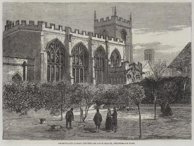 Shakespeare's Garden and Old Guild Chapel, Stratford-On-Avon--Giclee Print