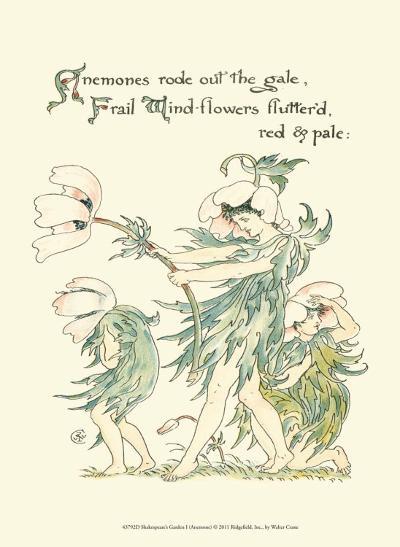Shakespeare's Garden I (Anemone)-Walter Crane-Art Print