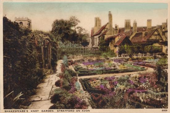 'Shakespeare's Knot Garden, Stratford-Upon-Avon', c1910-Unknown-Giclee Print