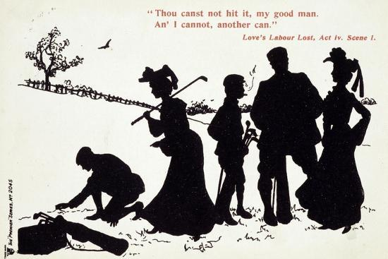 Shakespearian scene on a golf course-Unknown-Giclee Print