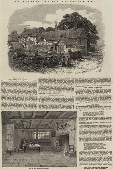 Shakespere and Stratford-Upon-Avon--Giclee Print