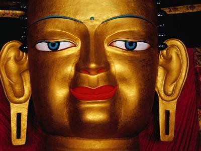 Shakyamuni Buddha Statue at Shey Monastery, Ladakh, India-Richard I'Anson-Photographic Print