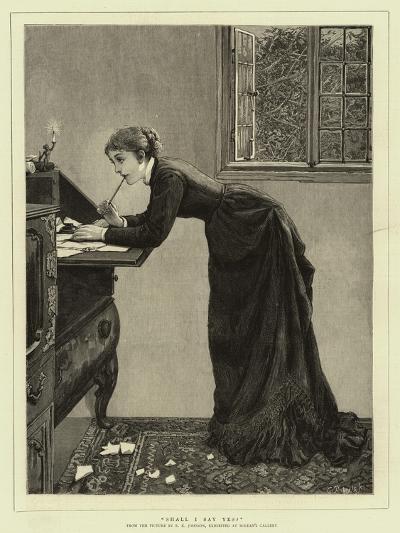 Shall I Say Yes?-Edward Killingworth Johnson-Giclee Print