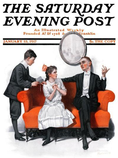 """""""Shall We Dance?"""" Saturday Evening Post Cover, January 13,1917-Norman Rockwell-Giclee Print"""