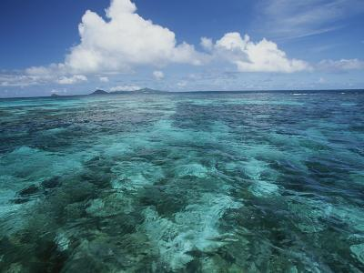 Shallow Blue Water Stretches to the Horizon-Michael Melford-Photographic Print