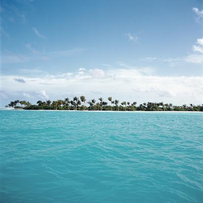 Shallow Water Near Tropical Island--Photographic Print