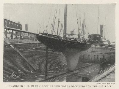 Shamrock II in Dry Dock at New York, Refitting for the Cup Race--Giclee Print