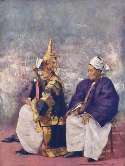 'Shan Chiefs watching the Durbar', 1903-Mortimer L Menpes-Giclee Print