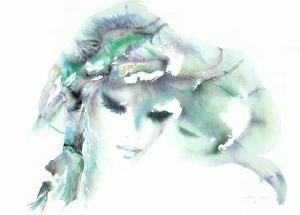 Portrait de jeune fille I by Shan-Merry