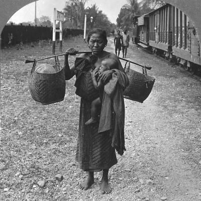 Shan Woman and Child, Upper Burma, 1908--Photographic Print