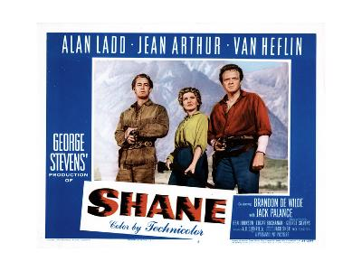 Shane, Alan Ladd, Jean Arthur, Van Heflin, 1953--Photo