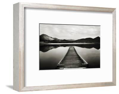 Emigrant Lake Dock I in Black and White by Shane Settle