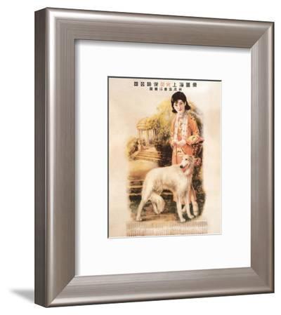 Shanghai Lady with Hound--Framed Premium Giclee Print
