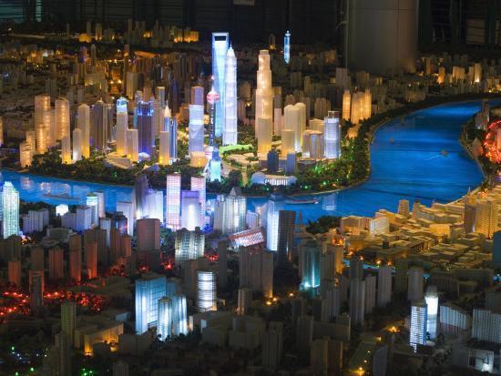Shanghai of the Future, Shanghai Urban Planning and Expo 2010 Exhibition Hall, Shanghai, China-Kober Christian-Photographic Print