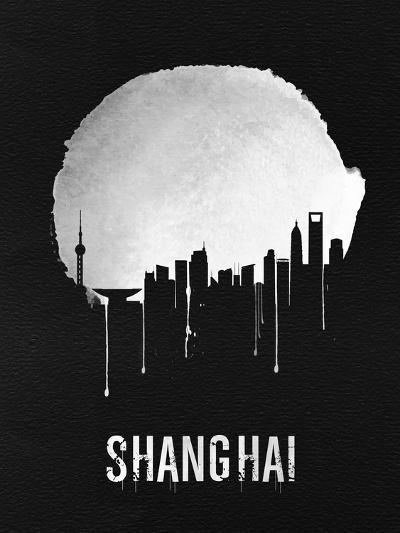 Shanghai Skyline Black--Art Print