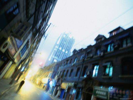 Shanghai Street, Shanghai, China-Ray Laskowitz-Photographic Print