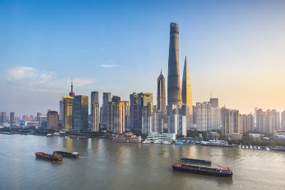 Shanghai Tower and the Pudong Skyline across the Huangpu River, Shanghai, China-Jon Arnold-Photographic Print