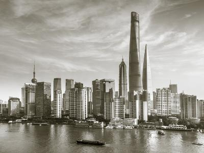 Shanghai Tower and the Pudong Skyline across the Huangpu River, Shanghai, China-Jon Arnold-Photographic Print