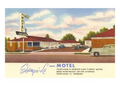 Shangri-La Motel, Portland, Oregon--Art Print