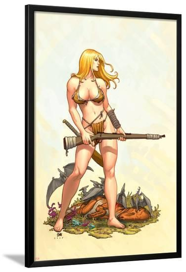 Shanna, The She-Devil No.4 Cover: Shanna The She-Devil-Frank Cho-Lamina Framed Poster