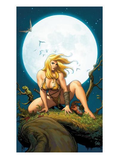 Shanna, The She-Devil No.5 Cover: Shanna The She-Devil Crouching--Art Print
