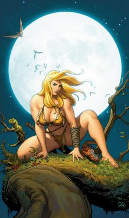 Shanna, The She-Devil No.5 Cover: Shanna The She-Devil Crouching