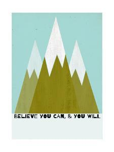 Believe You Can-Mountains - Silouhette Typography by Shanni Welch