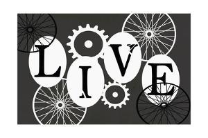 Live Black and White Typography by Shanni Welch