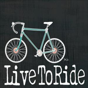 Live to Ride on Black by Shanni Welch