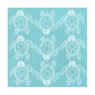 Turtle Pattern Sea Blue by Shanni Welsh