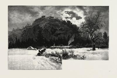 Shanty at Eagle's Nest, Canada, Nineteenth Century--Giclee Print